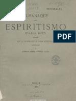 Almanaque Del Espiritismo. 1873
