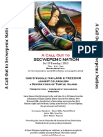 A CALL OUT to Secwepemc Nation.All  Secwepemculecw & all First Nations encouraged to attend