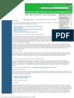Choosing Appropriate Research Methodologies and Methods