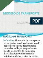 Modelo de Transporte Diapositivas