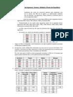 Ejercicio PBI Punto de Equilibrio