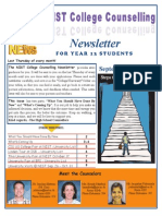 NIST College Counselling Newsletter for Year 13 Students September 26, 2013