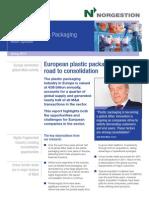 European Plastic Packaging Update. Spring 2012