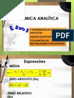 Quimica analítica quantitativa  2013 2