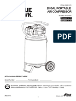 Lowe's #0461679 20 Gallon (20-Gal) Portable Air Compressor Blue Hawk Model #0132055 User's Guide Manual [461679.pdf]