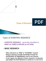 Lecture III - Types of Research