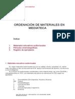 Ordenación de materiales en mediateca