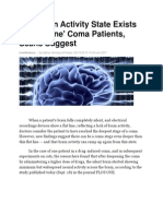 Huff Post - Brain Activity in Coma Patients