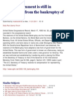 United States 1933 Bankruptcy - The US Government is Still in Receivership From the Bankruptcy of 1933