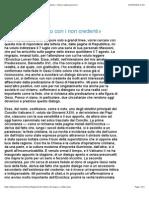 «È venuto il tempo di un dialogo aperto con i non credenti» | Chiesa | www.avvenire.it