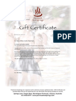 Gift Certificate 143115