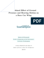 COMBINED EFFECT OF GROUND PRESENCE AND HEAVING MOTION ON A RACE CAR WING