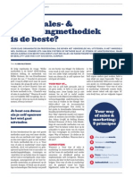 Welke sales- & marketingmethodiek is de beste?