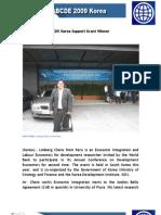Peruvian 2009 ABCDE Korea Support Grant Winner