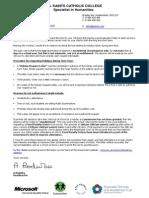 Attendance Guidance Letter