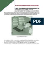 Erläuterungsbericht zum Wettbewerbsbeitrag von Architekt Martin Wurth
