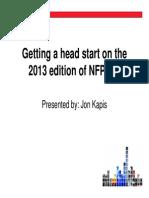 2013 NFPA 72 Updates