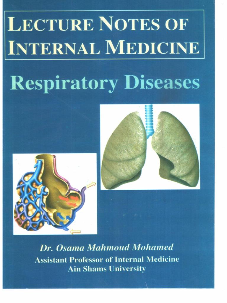 Respiratory Dr Osama Mahmoudpdf Chronic Obstructive Pulmonary