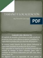 TAMAÑO LOCALIZACION DEL PROYECTO