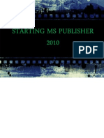 Starting Ms Publisher 2010