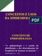 Conceito e Usos Epidemiologia