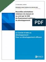 Nouvelles orientations relatives à la mesure et au suivi par le CAD du financement extérieur du développement