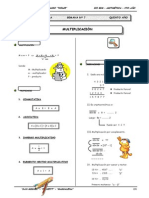 III BIM - Aritmetica - 5to. año -  Guía 7 - Multiplicación (