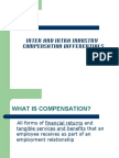 Intra and Inter Industry Compensation Differentials