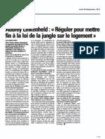 Interview La Vdn Lille 26-09-13