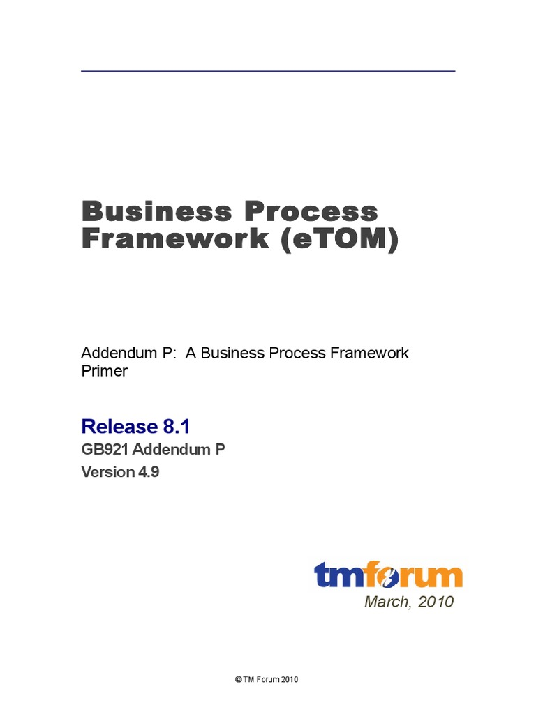 GB921-P Primer Release 8-1 v4-9 | Business Process | Itil
