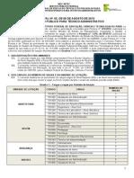 Edital Concurso Tecnico Administrativo Ifpa 2013
