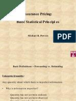 Insurance Pricing Basic Statistical Principles