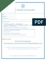 ACET Test Booklet (Mock Test)