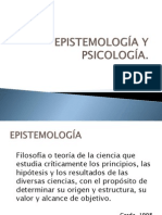 EPISTEMOLOGÍA Y PSICOLOGÍA