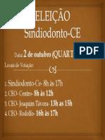 ELEIÇÃO Sindiodonto-CE
