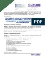 Providencia IVA 1454 Entes Publicos
