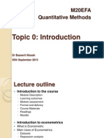 Topic 0 Introduction