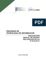 SENIAT - Manual Declaracion de IVA