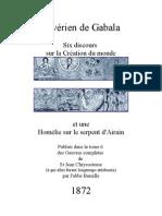 Homélies de Sévérien de Gabala