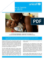 UNICEF Sierra Leone Newsletter Sep 2013