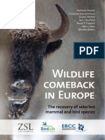WILDLIFE COMEBACK IN EUROPE