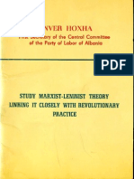 Study Marxist-Leninist Theory Linking It Closely With Revolutionary Practice