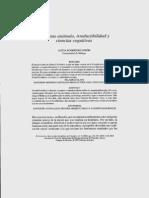 Contrastes - Monismo anómalo, irreductibilidad y ciencias cognitivas