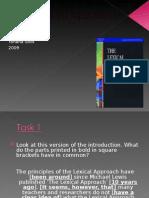 Presentation on The Lexical Approach