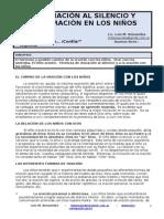 LA INICIACIÓN AL SILENCIO Y A LA ORACIÓN EN LOS NIÑOS - SESIÓN 7-52 - LUIS M BENAVIDES