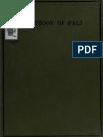 Frunkurter - Hand Book of Pali