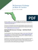 Florida Health Insurance Exchange Update