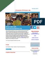 PublicSchoolOptions.org October 2013 Newsletter