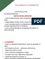 Farmacologia Aparatului Respirator