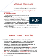FARMACOLOGIA COAGULĂRII